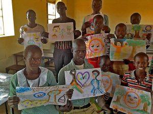 Diese südsudanesischen Schüler haben ihre Hoffnungen auf eine bessere Zukunft gemalt