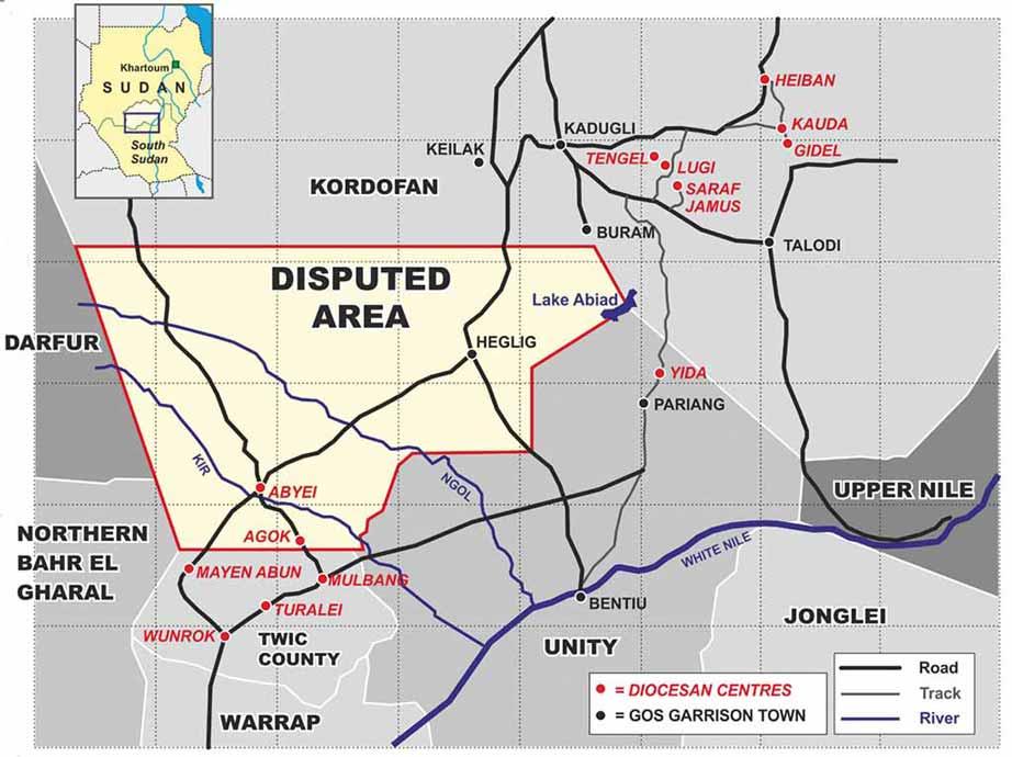 Auf dieser Karte fehlt leider der Projektstandort Narus in East Equatoria (Südsudan)