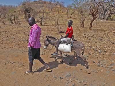 Dorfbewohner in den Nubabergen